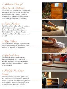 Refinishing furniture part 1