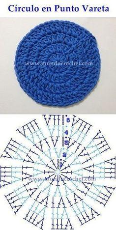 Como Tejer Un Circulo Perfecto A Crochet - Diy Crafts Crochet Instructions, Crochet Diagram, Crochet Chart, Crochet Motif, Diy Crochet, Crochet Baby, Crochet Doilies, Crochet Round, Crochet Squares