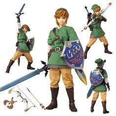 ★★ RAH The Legend of Zelda Skyward Sword Link Medicom Action Figure Hot Toys ★★ | eBay
