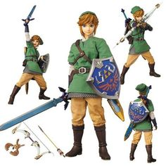 ★★ RAH The Legend of Zelda Skyward Sword Link Medicom Action Figure Hot Toys ★★ | eBay