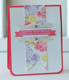 Birthday Posies Card by Betsy Veldman for Papertrey Ink (March 2013)