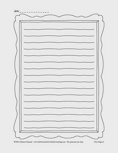 adventures in guided journaling printable journal pages would be easy to create in a