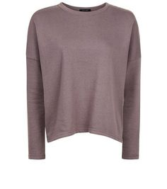 Pale Grey Boxy Batwing Sleeve Jumper  | New Look