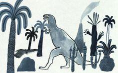 Karin Hagen #dinosaur #art