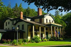 The Glen Iris Inn, donated to the State of New York along with 1000 acres of land that includes the 3 major waterfalls, by the Letchworth family 100 years ago. The park now encompasses 14,350 acres of magnificent scenery along the Genesee River gorge, about 35 miles south of Rochester.