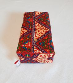polyester and cotton. Egyptian fabric - Khayameyia fabric. Tissue Holders, Decoration, Floral Tie, Red, Fabric, Cotton, Accessories, Slipcovers, Fabrics