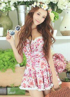 Rachel Swimwear - Halter Floral Swimsuit #swimsuit #floralswimsuit #halterlswimsuit