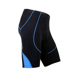 SANTIC Cycling Men's Shorts Biking Bicycle Bike Pants Half Pants 4D COOLMAX Padded Blue L - http://www.exercisejoy.com/santic-cycling-mens-shorts-biking-bicycle-bike-pants-half-pants-4d-coolmax-padded-blue-l/cycling/