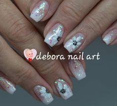 "Debora Nail Art (@debora_nail_art) added a photo to their Instagram account: ""#handpaintednailart #flowernailart #floralnailart #cutenails #summernails #freshnails #geloverlay…"" Ombre French Nails, Gel Overlay, Floral Nail Art, Painted Nail Art, Cute Nails, Summer Nails, Instagram, Pretty Nails, Summery Nails"