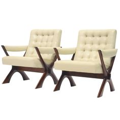 Pair of lounge chairs by Illum Wikkelso