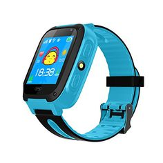 TDH Kids GPS Smartwatch, Anti-lost Smart Watch for Children Girls Boys Compatible for iPhone Android (Blue) - Functions: LBS location,Phone book,Talk-back,Footprint,Watch alarm clock,Safe area,SOS,emergency alarm,Low-power,Alarm,Remote shutdowm,Lighting,Game, Camera,Photo album,Theme,Stopwatch,Self dialing Note: 1. The watch didn't work/ device offline, please contact us by email. Whether ask for item re...