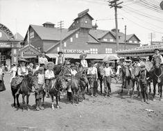 "New York circa 1904. ""The Ponies, Coney Island."" 8x10 inch dry plate glass negative."