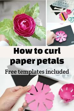 how to curl paper with scissors how to curl paper flower petals