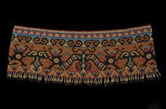 Beaded Panel Maloh or Kayan-Kenyah Tribal Complex  Central Kalimantan (Borneo), Indonesia