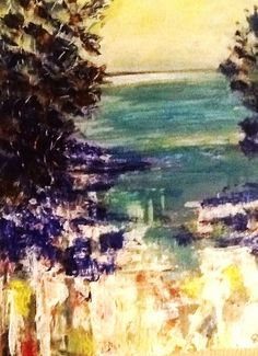"""By The Waters Edge"" Artwork by Artist Sharon Wood Acrylic on Canvas For Sale swoody@internode.on.net"