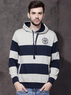 Winter Wear For Men, Blue Stripes, Navy Blue, Blue Sweaters, Hooded Sweatshirts, Hoods, Hooded Jacket, Men Sweater, Mens Fashion