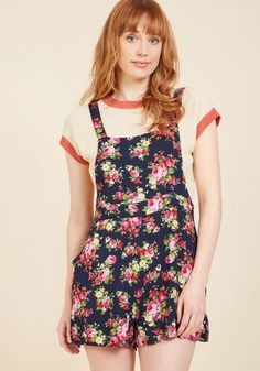 2d08dc79ebb2 Excite All Day Romper in Navy Blossom