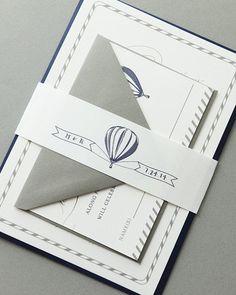 Vintage Hot Air Balloon Wedding Invitations / Rehearsal Dinner Invitations / Vintage Wedding Invites / Printable Invitations / DIY