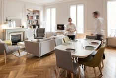 Home sweet home, place sathonay Marion LANOË Apartment Interior, Apartment Living, Living Area, Living Spaces, Living Room, Small Apartments, Home Interior Design, Interior Architecture, Home Office