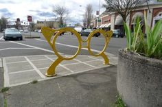 glasses bike rack