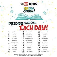 30 Day Challenge -- Cool Ideas From YouTube Kids
