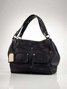 3cab1fff96 Clearwater Leather Shopper - Lauren Handbags Handbags - RalphLauren.com  Ralph Lauren Purses
