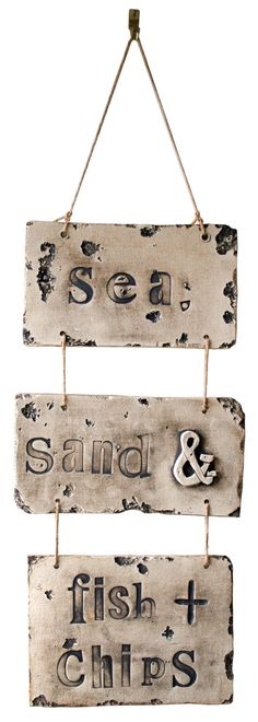 Sea Sand and Fish and Chips Vintage Style by CherryPieLane Plaice, Fish And Chip Shop, English House, Fish And Chips, House Decorations, Vintage Stuff, Seaside, Seafood, Brooklyn