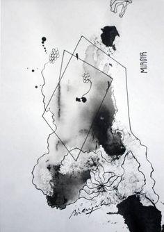 """Saatchi Art Artist Marijah Bac Cam; Drawing, """"Miroir"""" #art"""