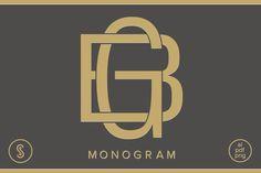 BG Monogram GB Monogram by Shuler Studio on @creativemarket