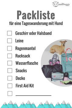 Packliste | Wanderung mit Hund