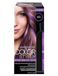 Color at your fingertips Intense Wash-Out Color   New, commitment-free temporary hair color:  Ultra-easy application for any style. Zero damage. Use on dry hair, no rinsing. Washes out in 2-3 shampoos*.