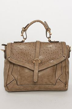 The Serenity Bag in Taupe  From karmaloop.com