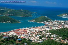 US Virgin Islands St. Thomas Charlotte Amalie St. Thomas Harbor View From Skyline Drive