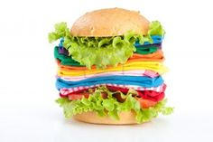 Hamburger con nuovi vestiti colorati!!