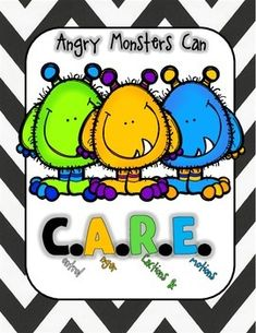 Great school counseling game for working with students one-on-one or in small groups. The goal of the Angry Monsters Can C.A.R.E.(Control Anger, Reactions, and Emotions) Board Game is to help students learn how to manage and address anger.
