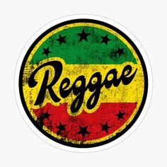 'Reggae' Sticker by Alma-Studio Bob Marley Painting, Bob Marley Art, Bob Marley T Shirts, Reggae Art, Reggae Music, Stickers, Rasta Art, Bob Marley Pictures, Rasta Colors