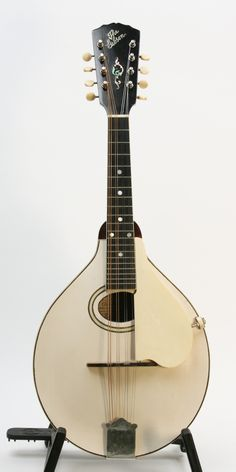 Vintage white-face Gibson A - 4 mandolin, Black and White