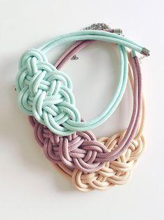 Krisztina Lango rope necklaces Pastel necklace Knotted necklace Painted necklace #knottednecklace #paintednecklace #pastelnecklace #ropenecklace