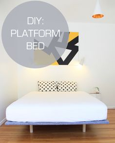 PLATFORM BED DIY. A simple and easy way to build a Scandinavian inspired platform bed. Looks gorgeous!! #diy #craft