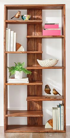 Atlas Sheesham Bookcase Holzbearbeitung wood working projects tools wood working projects crafting crafting tools for beginners Wood Pallet Furniture, Woodworking Furniture, Fine Woodworking, Furniture Projects, Diy Furniture, Woodworking Ideas, Woodworking Techniques, Rockler Woodworking, Woodworking Equipment