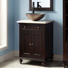 24 Keller Mahogany Vessel Sink Vanity Dark Espresso