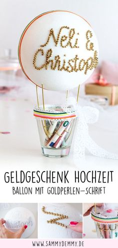 Wedding Gift Ideas: DIY Balloon & Engraved Champagne Glasses - Upcycled Home Decor Mother Birthday Gifts, Diy Mothers Day Gifts, Diy Gifts, Diy Wedding Gifts, Personalized Wedding, Personalized Gifts, Don D'argent, Diy Ballon, Wedding Ring For Him