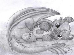 Artist>> http://hicctoothfan.deviantart.com/art/Night-Fury-baby-448155303 994437_807606845942066_433507834016673286_n.jpg (JPEG Image, 960 × 723 pixels) - Scaled (84%)