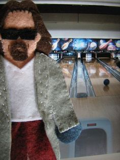 The Dude finger puppet (found on Etsy)