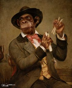 Monkey Player by minouz 8th place entry in FX Best of Ren. Anthropomorphic digital art.