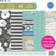 """Love this coastal feel with our """"Seaglass"""" paper pad available @michaelsstores now!"""