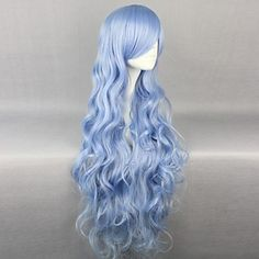 Novelty & Special Use Vocaloid 2017 Star & Snow Princess Snow Miku Cosplay Hairwear Super Long Light Blue Wavy Wig We Have Won Praise From Customers