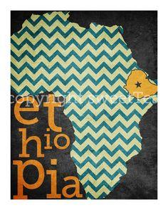 Africa art print-decoupage idea