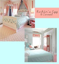 Robins Egg Blue and Coral Room Unique Home Ideas