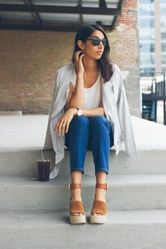 chicago style blogger, marc fisher wedges, best summer wedges